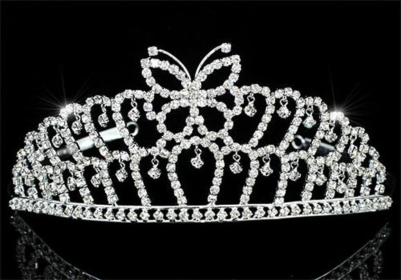 Bridal Wedding Pageant Beauty Contest Prom Butterfly Tiara XT1532