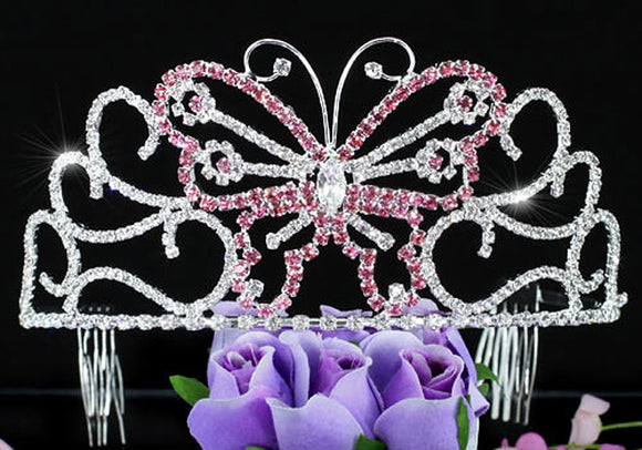 Bridal Wedding Pageant Beauty Contest Pink Butterfly 3
