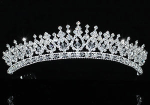 Bridal Pageant Beauty Contest Sparkling Silver Plated Tiara XT1543