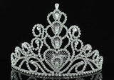 "Bridal Prom Pageant Beauty Contest Tall 6"" (15 cm) Tiara Crown XT1580"