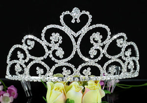"Bridal Pageant Beauty Contest Heart 3.5"" (9 cm) Tiara XT1582"