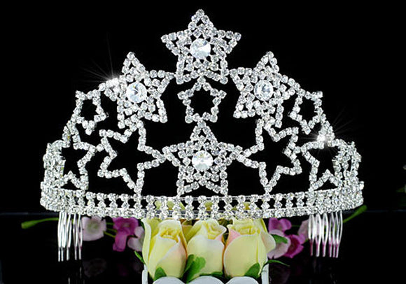 Large Pageant Beauty Contest Party Tall Tiara Crown XT1585