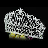"Bridal Prom Large Pageant Beauty Contest 4.25"" (11 cm) Tall Tiara Crown XT1587"