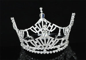 Bridal Wedding Pageant Prom Medium Size Full Circle Round Crown XT1618