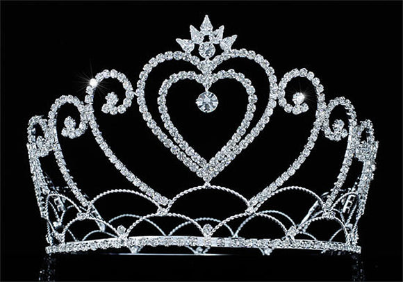 Bridal Wedding Pageant Beauty Contest Heart Tall 4.75