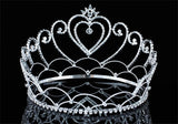 "Bridal Wedding Pageant Beauty Contest Heart Tall 4.75"" Tiara Full Circle Round Crystal Crown XT1690"