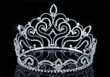 "Bridal Wedding Pageant Beauty Contest Vintage Style Tall 4.75"" Tiara Full Circle Round Crystal Crown XT1691"