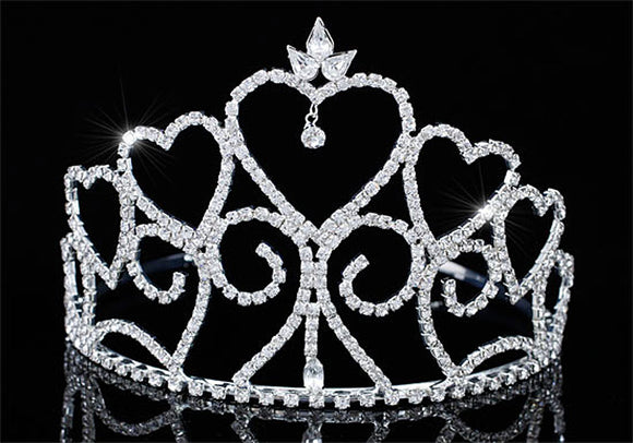Bridal Wedding Pageant Beauty Contest Heart Sparkling Crystal 4