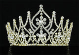 "Bridal Party Prom Pageant Beauty Contest 4.2"" (11 cm) Tall Gold Tiara Crown XT1758"