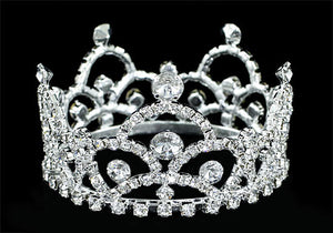 Flower Girl / Baby Crystal Full Circle Round Mini Crown Tiara XT1760