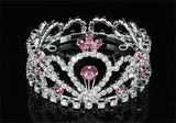 Flower Girl / Baby Crystal Full Circle Round Pink Mini Crown Tiara XT1775