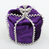 Purple Velvet Full Circle Round Baby / Boy Royal Mini Crown XT1796