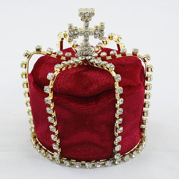 Red Velvet Full Circle Round Baby / Boy Royal Mini Crown XT1805