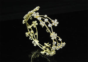 Newborn Baby Photo Prop Round Full Circle Rhinestone Gold Flower Mini Tiara Crown XT1812