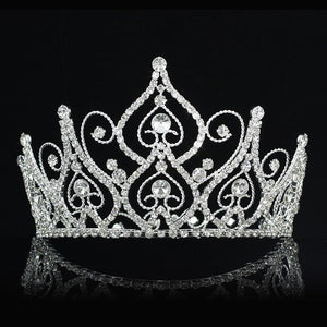 "Bridal Prom Pageant Beauty Contest 4"" (10 cm) Tall Tiara Crown XT1826"