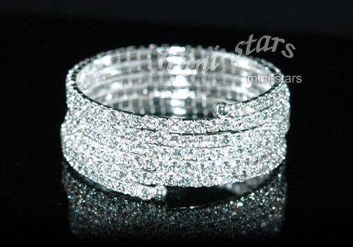 Bridal 5 Row Crystal Stretchable Bangle / Armlet XA013