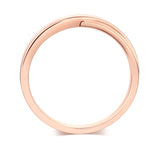 Matching 14K Solid Rose Gold Men Wedding Band Ring