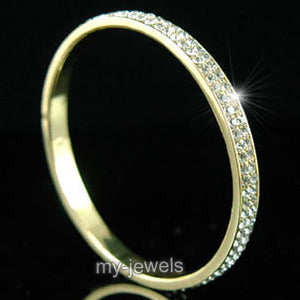Bridal Quality Austrian Crystal Gold Bangle Bracelet XB027