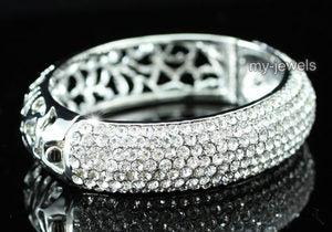 Wedding Pageant Bangle Bracelet use Swarovski Crystal B042