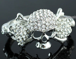 Skull Bling Crystal Bangle Bracelet B054