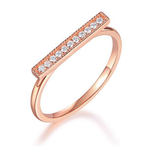Women 14K Rose Gold Wedding Band Elegant Ring 0.07 Ct Diamond