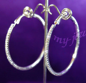 Sparkling Crystal Rhinestone Hoop Earrings E1041