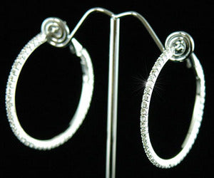 Sparkling Crystal Rhinestone Hoop Pierced Earrings E1042