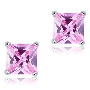 1 Carat Pink Created Diamond Solid 925 Sterling Silver Stud Earrings Jewelry XFE8078
