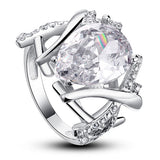 4 Carat Pear Cut Created Diamond 925 Sterling Silver Wedding Anniversary Ring XFR8018