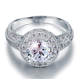 Vintage Style 2 Carat Created Diamond Solid 925 Sterling Silver Wedding Engagement Ring XFR8090