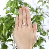 2 Ct Pear Cut Ring Sterling 925 Silver Wedding Promise Anniversary Engagement Jewelry XFR8221