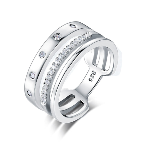 Wedding Band Anniversary Solid 925 Sterling Silver Ring Jewelry XFR8313