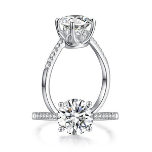 2 Carat Moissanite Diamond (8 mm) Engagement Ring 925 Sterling Silver MFR8347