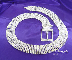 "Queen 40"" 10 Row Crystal Rhinestone Belt L004"