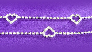 Hearts Sexy Crystal Rhinestone Belly Chain Belt L011
