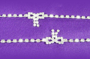 Sexy Crystal Rhinestone Bow Chain Belly Belt L012