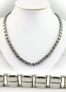 "24"" Heavy Duty Polish Stainless Steel Mens Necklace Chain XMN020"