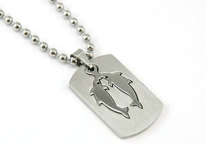 Pisces Zodiac Sign - Stainless Steel Mens Pendant Necklace MP119