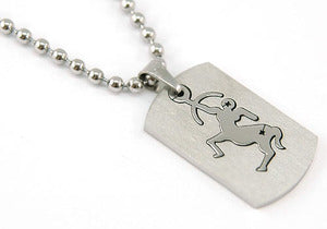 Sagittarius Zodiac Sign - Stainles Steel Mens Pendant Necklace MP123