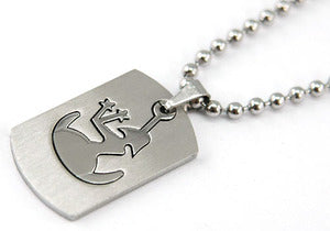 Virgo Zodiac Sign - Stainles Steel Mens Pendant Necklace MP129