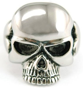 Mens Gothic Skull Head No Jaw Stainless Steel Ring MR032
