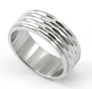 Stylish Hip Hop Solid Stainless Steel Mens Ring MR060
