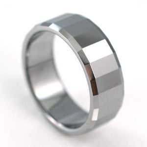 Hip Hop Polish Tungsten Steel Mens Band Ring MR071