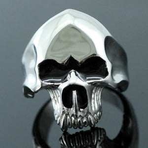 Gothic Skull Head No Jaw Stainless Steel Mens Ring MR076