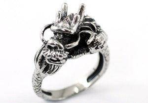Hip Hop Dragon Magnetic Health Stainless Steel Mens Ring MR158