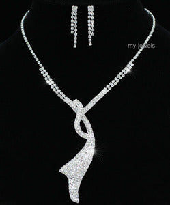 Wedding Elegant Necklace Earrings Set S1192