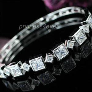 7 Carat Princess Cut Created Diamond Bangle XSB082