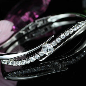 4 Carat Bangle use Austrian Crystal XB090