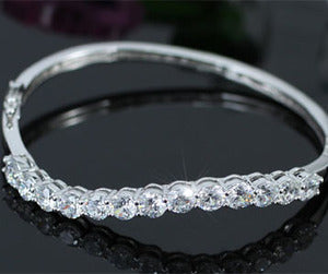 6 Carat Stylish CZ Created Diamond Bangle XSB102
