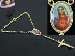 Blessed Virgin Mary Gold Plated Bracelet XSB106